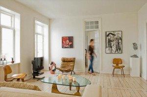 Decoración de espacios pequeños - copenague apartamento